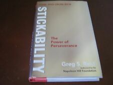 SIGNED GREG S. REID  STICKABILITY THE POWER OF PERSEVERANCE: THINK AND GROW RICH