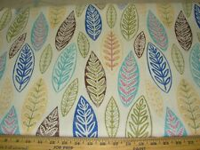 "~7 3/8 YDS~REGAL""MODERN RETRO LEAVES"" DRAPERY UPHOLSTERY FABRIC FOR LESS~"