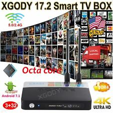 XGODY 2017 Android 7.1 DDR4 3+32G S912 Octa Core Smart TV BOX NEW 17.2 3D Movies