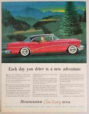 1954 Print Ad Buick Roadmaster 2-Door Red Car Dynaflow Transmission