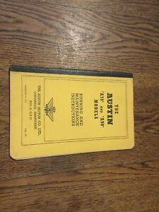 THE AUSTIN A70 A90 PICK-UP COUNTRYMAN  RUNNING MAINTENANCE INSTRUCTIONS 1950