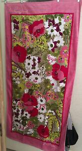 Plush Unknown VERA BRADLEY BEACH TOWEL Shades Pink Green Flowers Unused No Tag