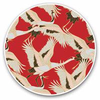 2 x Vinyl Stickers 7.5cm - Oriental Crane Bird Art Cool Cool Gift #2083
