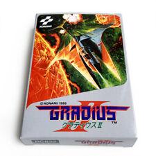 GRADIUS II 2 - Empty box replacement custom case for Famicom game Konami +tray