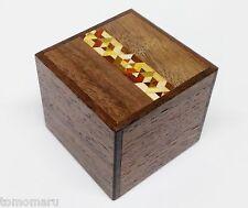 By OKA Kobako 7steps Yosegi 54mm Japanese Wood trick Hakone Puzzle Box-Brand NEW