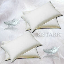 FOUR 4 PACK NATURAL NEW GOOSE FEATHER AND DOWN PILLOWS - 250 THREAD COTTON COVER