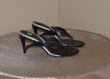 HOGAN Italian Rubber Thong Wedge Sandal Size 8