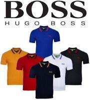 New Hugo Boss 2016 Mens Placket Polo Cotton Tee T Shirt S M L XL.Fidelio lining