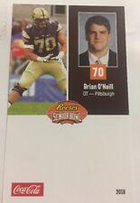Brian O' Neill 2018 Senior Bowl Football Card Pittsburgh NFL Draft