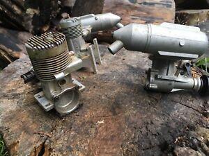 A Lot Of Three Vintage R/C Model Airplane Engine's OS Max FP 40 Fox Eagle
