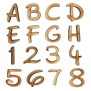 Wooden Letters Disney Inspired & Numbers 2cm-40cm 4mm Thick MDF Craft Scrapbook