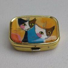 Pill Box Pill Box Mirror Rosina Wachtmeister  Artist Cats portrait