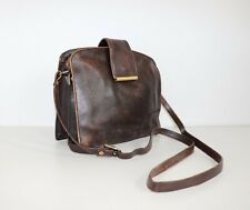 Women's Vintage V&D Brown 100% Leather Handbag Shoulder Bag Messanger Bag