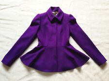 TED BAKER Sollel purple peplum jacket dress coat full skirt fit & flare asos 0 6