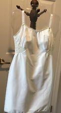 Vtg Stretchy Side And Back Lace With Satiny Material Full Slip Dress sz34/36