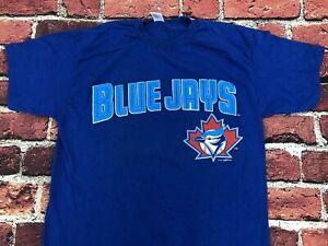 Toronto Blue Jays MLB Baseball T shirt Vintage 90s Mens Large Royal Cotton Tee