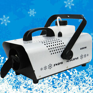 Wireless Snow Fog Machine 600W Party Stage Real Snow Atmosphere Effects