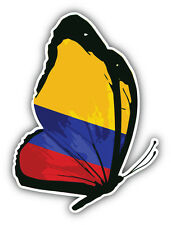 Colombia Flag Butterfly Car Bumper Sticker Decal 4'' x 5''