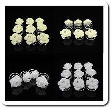Set 10 Curlies Haarspiralen Blumen Rose Haarnadeln Perlmutt-Optik Braut Hochzeit