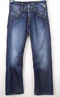 Replay Herren Gerades Bein Jeans Größe W32 L34 BCZ198