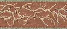 WESTERN DEER ANTLERS Country Wallpaper Border TA39018B