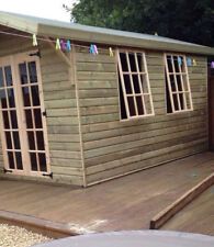 12X8'Wooden Shed House with Double Door  Gable Roof and 2 Georgian Style Window