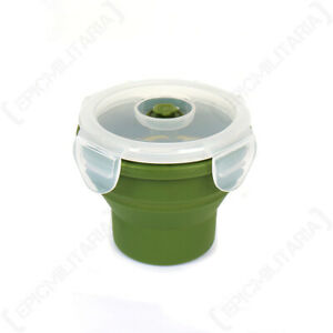 Microwaveable Silicone Collapsible Drinks Cup - Camping School Outdoors Picnic