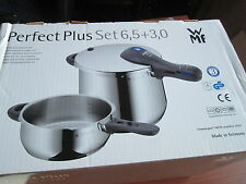 Wmf Perfect Plus 2 pc. 3 & 6.5-Liter Stainless-Steel Pressure Cookers w/ 1 Lid