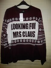Mens Burton Red LOOKING FOR MRS CLAUS Christmas Jumper *Size 2XL* BNWT