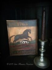 Primitive Colonial Tavern Sign 8x10 Stretched Canvas Print Cupboard Tuck