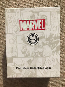 2oz Silver Iron Man Mask High Relief Collectible Coin