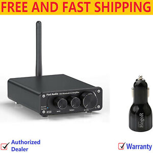 Bluetooth 5.0 Stereo Audio Amp. Recei. 2Chan. ClassD Mini Hi-Fi Amp with Charger