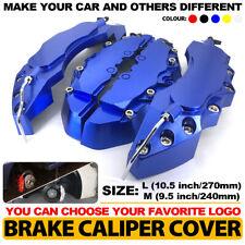 4x Dark blue Brake Caliper Covers Style Disc Universal Car Front Rear Kit L+M C3