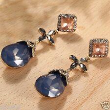Wholesale 1pair Multi-color Crystal Rhinestone Long Ear Stud Hoop earrings 148