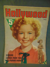 Hollywood Magazine March 1938 Shirley Temple stories pictures advertisments news