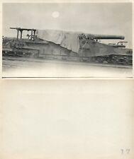 RAILWAY ARTILLERY WWI REAL PHOTO POSTCARD ANTIQUE RPPC railroad gun