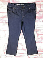 LANE BRYANT Plus Size 20 Dark Wash Blue Boot Cut Regular Fit Jeans
