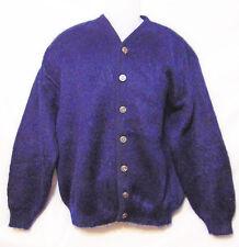 50's/60's Sears Heritage Sweater/Jacket Large 50% Mohair Blue Kurt Cobain Style