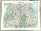 Antique Map of The Midlands English County Derbyshire Nottinghamshire York 1893