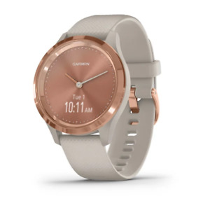 vívomove 3S Rose gold with light sand case and silicone band