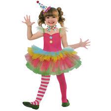CLOWN KOSTÜM KINDER Karneval Fasching Kleid Tutu Mädchen Gr. 122/128 /134 # 2982