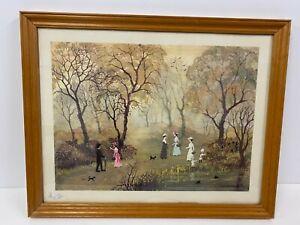 Helen Bradley ,gathering Blackberries , Stamped Print 1977