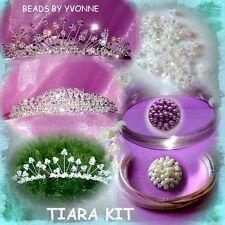 Tiara Kit Cristales & Perlas de plata alambre Vinchas instrucciones y herramientas, Etc