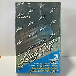 1991 Leaf Series 2 Baseball Box Sealed Box 36 Packs Cards Griffey Jr. Sosa