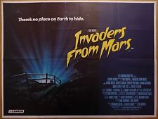 INVADERS FROM MARS (1986) - original UK quad film/movie poster, sci-fi horror