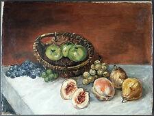 """Ancien Tableau """"Nature Morte"""" Peinture Huile Antique Oil Painting"""