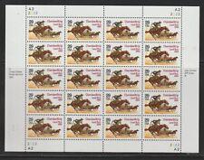 1993 Sheet #2754 Cherokee Strip, 20 of $0.29, mNH Very Fine