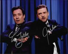 JIMMY FALLON JUSTIN TIMBERLAKE 2 REPRINT 8X10 AUTOGRAPHED SIGNED PHOTO PICTURE