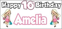 Glamour Girl 10th Birthday Banner x2 - Party Decorations - Personalised ANY NAME