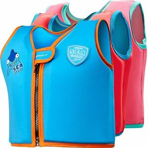 Speedo Sea Squad Childrens Swimming Float Suit Swim Jacket Kids 1-6 Years
